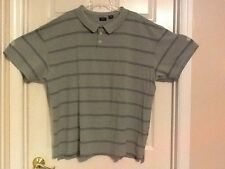 IZOD mens shirt size 4X heather green and blue stripes 100% cotton  118