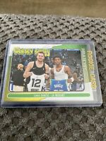 2020-21 NBA Hoops Luka Doncic / Ja Morant Jersey Swap Base Insert #7