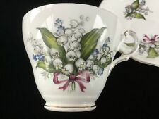 Regency Cup and Saucer Lily of the Valley~ Fine Bone China England