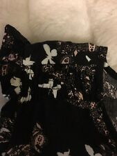 dorothy perkins 16 Dress Black With Butterflies