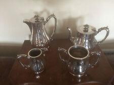 VICTORIAN 4 PIECE VINTAGE SILVER PLATED TEA/COFFEE SERVICE (SPTCS 3100) J R & S