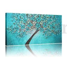 Pegatina Pared Azul Pintura Lienzo Ciruela Azurl Cuadro 60*120cm Casa Decoración