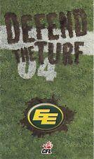 2004 EDMONTON ESKIMOS FOOTBALL CFL POCKET SCHEDULE