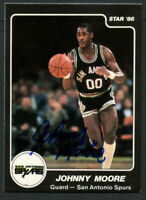 Johnny Moore #149 signed autograph auto 1985-86 Star Basketball Trading Card