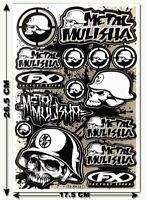 Neu Motorrad Aufkleber Metal Mulisha Skull Bogen Helm Enduro Bike Decal Sticker
