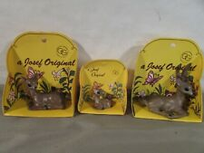 Set of 3 Josef Originals Deer Miniature Figurines