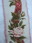 "French Antique Handmade Needlepoint Tapestry Table Runner 29X6"""