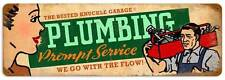 Busted Knuckle Garage Plumber Repair Metal Sign Man Cave Shop Club Bust079