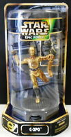 """STAR WARS 3-CPO 6"""" FIGURE ON A TURN ABOUT STAND DATED 1997"""