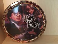 "Round Harry Potter 2001 Danish Butter Cookie Tin  7.5x2.5"" EMPTY Ron Hermione"