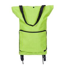 Women Foldable Reusable Green Storage Bag Waterproof Shopping Oxford Fabric Bag