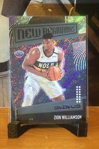 Zion Williamson 2019-20 Panini Status New Beginnings RC #30