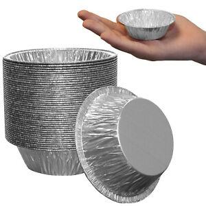 "Professional Aluminium Foil Metal Mini Tart Flan Mince Pie Cases Tins 3"" Round"