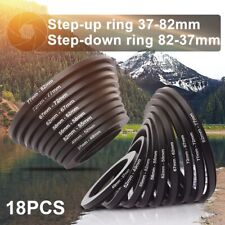 18pcs Step Up Down Lens Filter Ring Adapter Set 37 - 82mm for Canon Nikon DC453