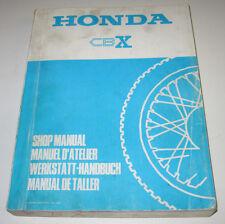Werkstatthandbuch Honda CB X Getriebe Ölpumpe Ladesystem Motor Stand 1978!