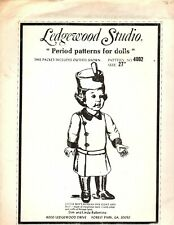 "Ledgewood Studio - 27"" Doll Period Pattern - Boys Russian Overcoat & Hat 1977"