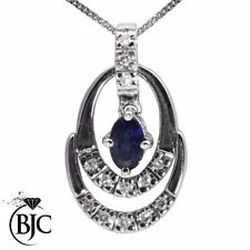 Sapphire Not Enhanced Natural Fine Necklaces & Pendants