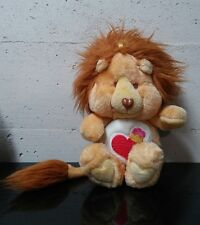 Rare Vintage Care Bear Cousins Brave Heart Lion Stuffed Plush-1984 Kenner 13 In