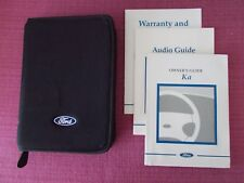FORD KA (1997 - 2002) OWNERS MANUAL - OWNERS GUIDE - HANDBOOK.  (YJL 1697)
