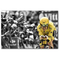 Geraint Thomas Tour De France Yellow Jersey ~ Canvas Print Wall Art ~ 5 Sizes