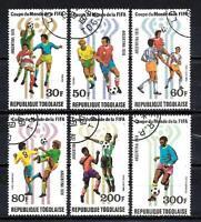 Fútbol Togo (72) serie completo 6 sellos matasellados