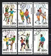 Football Togo (72) série complète 6 timbres oblitérés