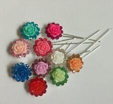 scarf pin hijab stick fix pin flower pin 12pin/lot free ship 9 different colors