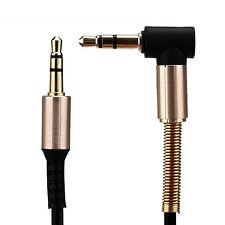 Audio Écouteurs Stéréo Câble De Raccordement 1m 3,5mm Jack -> Fiche Noir