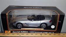 1/18 MAISTO SPECIAL EDITION 2003 DODGE VIPER SRT-10 SILVER bd