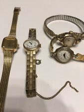Lot Of 4 Vintage Watches Caravelle, Wittnauer, Buren Parts Repair