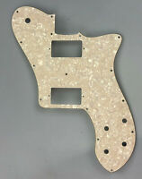 Fits 72 Tele Deluxe Reissue Guitar Pickguard PAF Humbucker, 4Ply Parchment Pearl