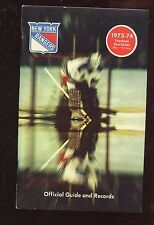 1973/1974 NHL Hockey New York Rangers Yearbook NRMT