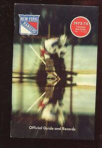 1973/1974 NHL Hockey New York Rangers Yearbook NRMT