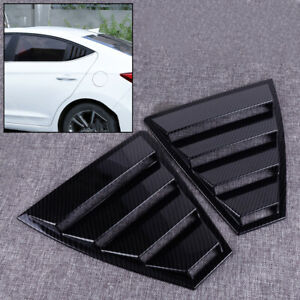 Pair Rear Window Quarter Panel Louvers Vent Trim Fit For Hyundai Elantra 2017-19