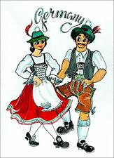 Fridge Magnets Germany - German Bavarian Dancing