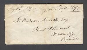 """Harrisonburg Va. August 8th"" 1829 M/S 2-pg letter to Sleaette in Point Pleasant"