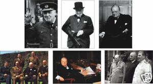 Winston Churchill Prime Minister 6 Card POSTCARD Set
