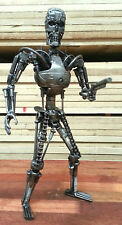 Terminator - sculpture from scrap metal.  Terminator car parts steel model. 30cm