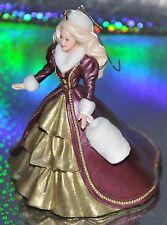 Holiday BARBIE Victorian Dress 1996 HALLMARK Ornament w/box