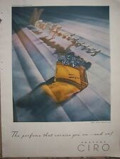 1946 CIRO The Perfume Bottle that Carries You on and on Color Ad