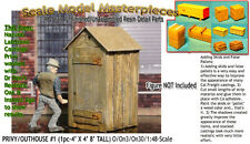 PRIVY/OUTHOUSE KIT #1 YORKE/Scale Model Masterpieces O/On3/On30 1:48/ obtx03