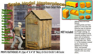 Scale Model Masterpieces/Yorke Single Stall Privy/Outhouse #1 Kit O/1;48