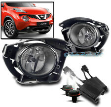 BUMPER DRIVING FOG LIGHTS LAMPS CHROME W/50W 6K XENON HID+SWITCH FOR 15-16 JUKE