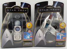 STAR TREK : STARFLEET PHASER & COMMUNICATOR MODELS MADE BY PLAYMATES (H)