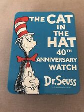 More details for dr seuss cat in the hat 40th anniversary watch set in original case
