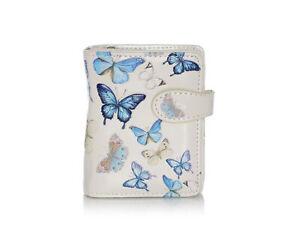 Shagwear Butterflies Small Zipper Women's Wallet, Cream