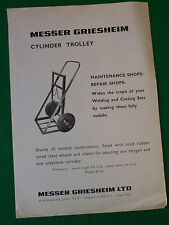 MESSER GRIESHEIM CYLINDER TROLLEY PRODUCT CARD (WELDING CUTTING VINTAGE)