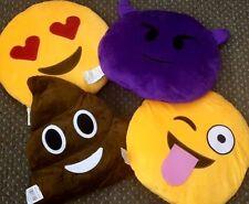 Large Emoji Pillow, Emoji cushions, Poop, Devil, Heart Eyes, Tongue
