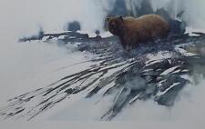 "Morton Solberg Morning Frost Bear Print SN Image Size 23.75"" x 14.25"