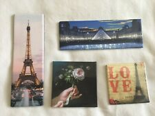 LOT OF 4 MAGNETS EIFFEL TOWER LOVE PARIS THE LOUVRE